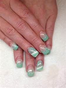 Silver and White Gel Nail Designs