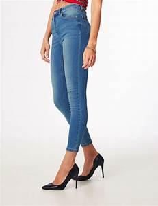 Jean Bleu Troué Femme : jean super skinny taille haute bleu femme jennyfer ~ Melissatoandfro.com Idées de Décoration