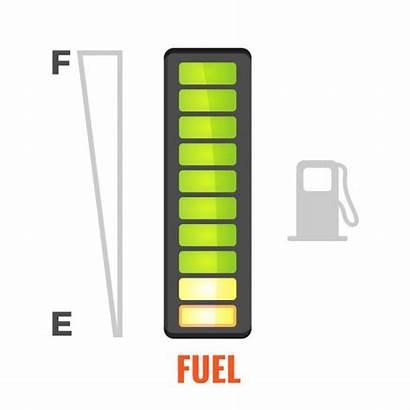 Fuel Gauge Vector Icon Tank Gas Empty