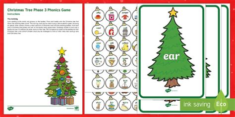 Christmas Tree Phase 3 Phonics Game  Eyfs, Early Years