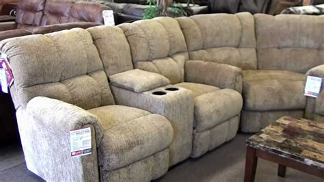 sectional sofa drink holder lane recliner sectional 4 recliners with cupholders youtube