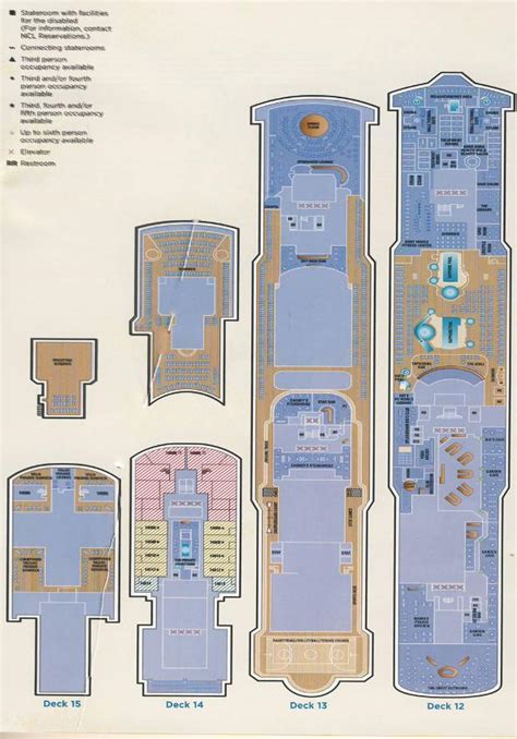 Ncl Sky Deck Plans Pdf by Gem Deck Plans Beautiful Scenery Photography