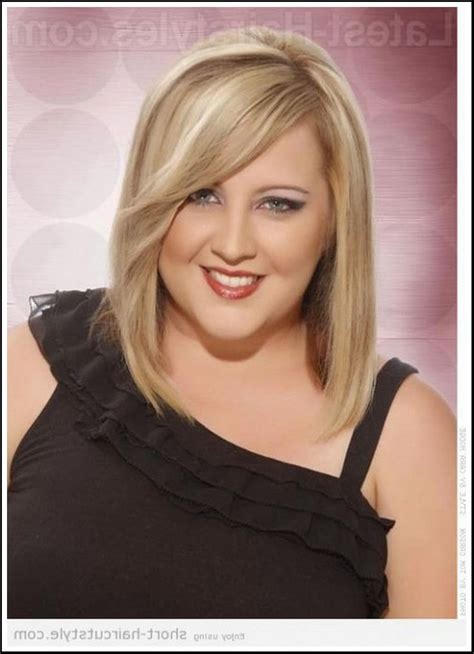 outstanding hairstyles   long  fat faces