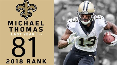 #81: Michael Thomas (WR, Saints) | Top 100 Players of 2018 ...