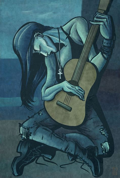 Death The Old Guitarist By Theamat On Deviantart