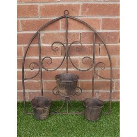 outdoor wall planters wrought iron 18 best images about outdoor wrought iron wall decor on