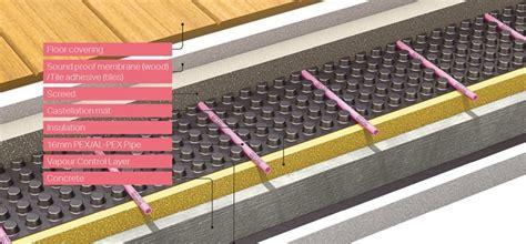 wet underfloor heating systems  joists carpet vidalondon