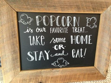 popcorn bar chalkboard wedding chalkboard signs