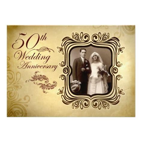 Fancy 50Th Wedding Anniversary Invitation Card