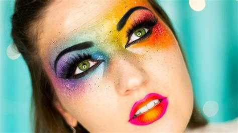 colorful makeup tips on how to wear rainbow makeup rainbow makeup ideas