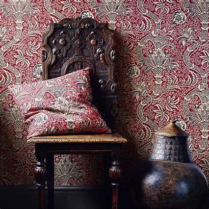 Morris Indian Wallpapers William Fabric Volume Usa