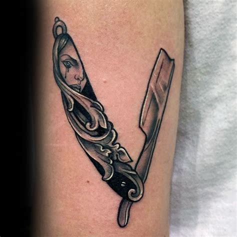 80 Straight Razor Tattoo Designs For Men   Sharp Ink Ideas