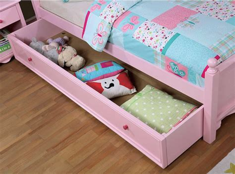Dani Curved Headboard Bed (white & Pink)