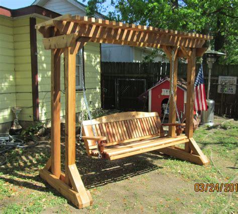backyard swing outdoor swing frames made cedar porch swings