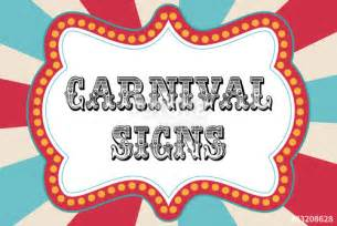 Free Printable Carnival Signs Template