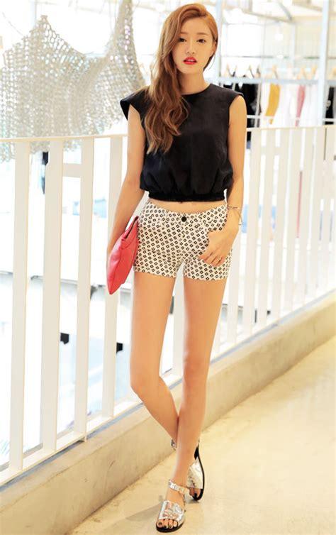 stylenanda diamond patterned shorts kstylick latest