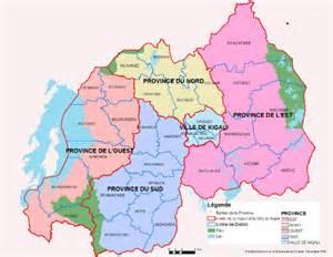 Rwanda District Map