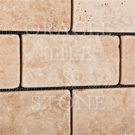 Tile Materials 4 by Andean Vanilla Travertine 2 X 4 Brick Mosaic Tile Oracle