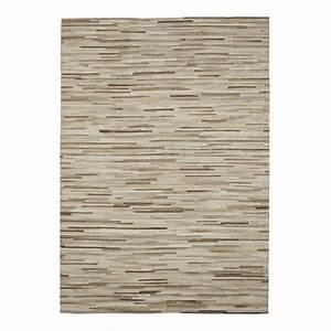 tapis en cuir 160 x 230 cm bandim maisons du monde With tapis ethnique avec canapé en cuir le bon coin