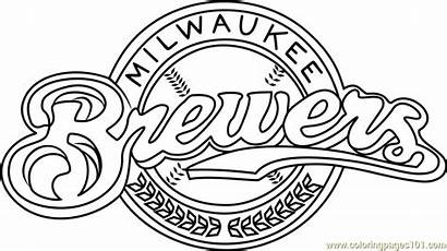 Brewers Coloring Milwaukee Pages Mlb Coloringpages101 Sports