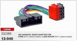 Carav 12 040 Iso Radio Adapter For Ford Focus 2011   Fiesta  C Max 2010  Wiring Harness