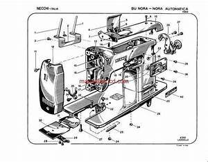 Necchi Model 1960 Bu Nora And Nora Automatica Parts Catalogue Wiring Diagram