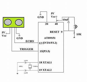 Distance Measurement And Obstacle Detection Using Nxp 89v51rd2fn And Ultrasonic Sensor Hc-sr04