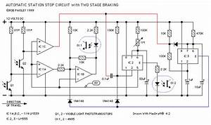 Automatic Station Stop Circuit Schematic - Control Circuit - Circuit Diagram
