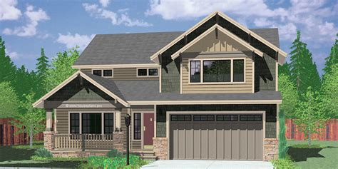 two craftsman plan with 4 bedrooms 40 ft wide x 40