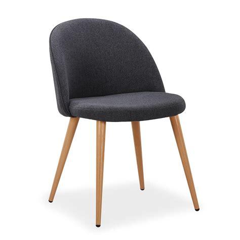 chaise tissu gris chaise scandinave tissu gris foncé lot de 4
