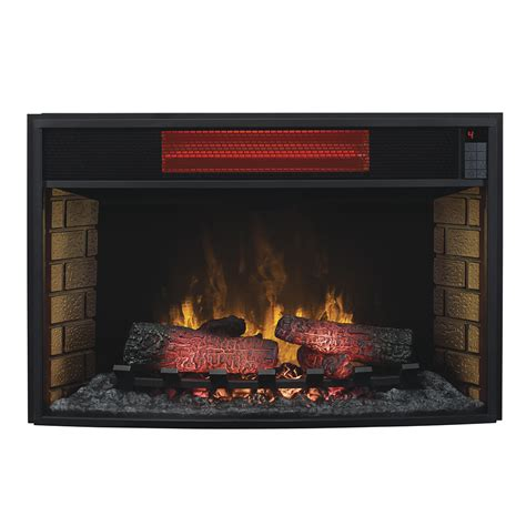 fireplace inserts electric classicflame 32 in spectrafire infrared electric fireplace