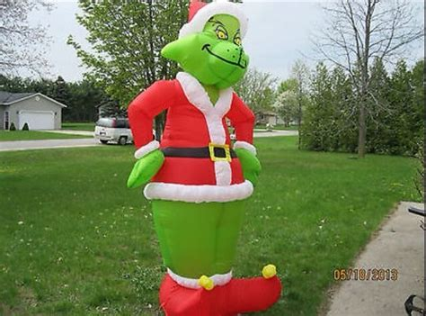 new 8 foot inflatable christmas grinch airblown light yard