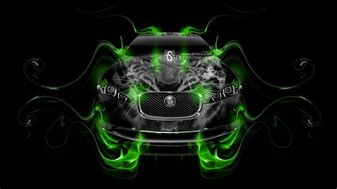 Green-fire-animal-car-2014-hd-wallpapers-design-by-tony