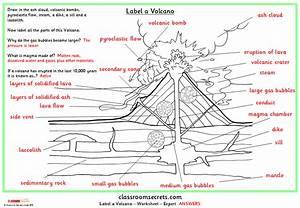 Label A Volcano
