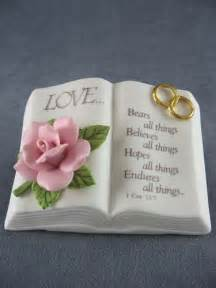 unique wedding readings bible verse bible wedding cake topper
