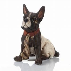 Statue Chien Design : statue d co chien british noir 15 5cm ~ Teatrodelosmanantiales.com Idées de Décoration