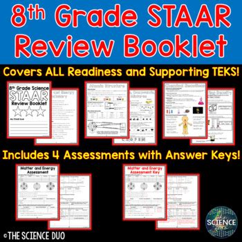 What can you do before you take the leap test? STAAR Science Review Booklet by The Science Duo | TpT