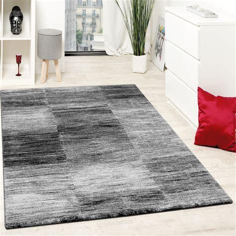 wohnzimmer teppich karo meliert grau schwarz teppichde