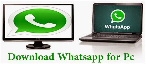 whatsapp for pc laptop para windows xp 7 8 1