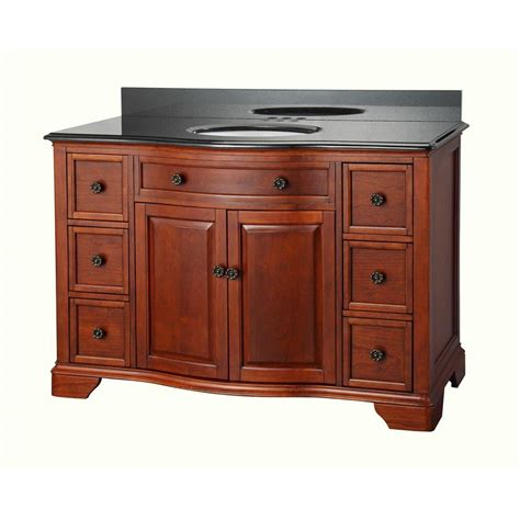 pegasus manchester 49 in vanity in mahogany with granite