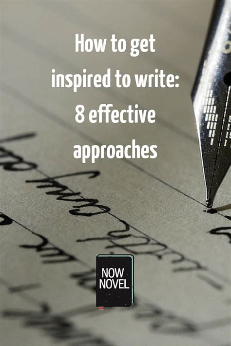 How To Get Inspired To Write Now  Now Novel