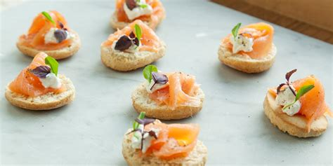 canape biscuit smoked salmon canapé recipe great chefs