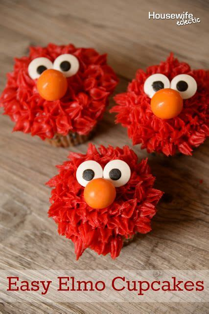 easy elmo cupcakes cupcakes decoration awesome cupcake