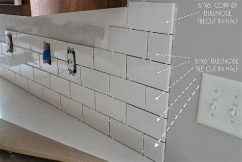 kitchen tile grout how to correctly edge white subway tile with bullnose duo 3258