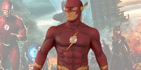 elseworlds earth  flash statue coming  gamestop