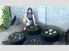 How to Make a Tire Garden YouTube