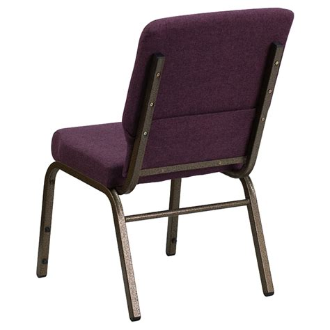 Stackable Church Chairs Free Shipping by Hercules Series 18 5 Quot Fabric Stacking Church Chair Plum