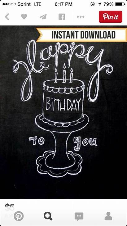 Chalkboard Writing Lettering Birthday Drawings Doodles