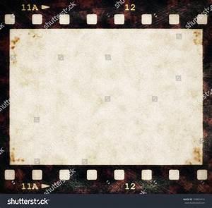 Blank Old Grunge Film Frame Stock Illustration