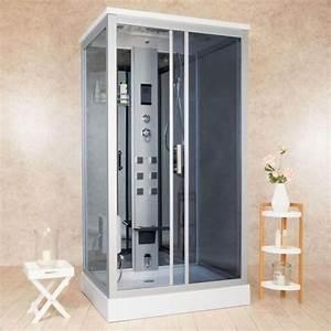 Cabina Idromassaggio 110x90 Cm Box Doccia Multifunzione Disponibile Anche Con Sauna Cb069
